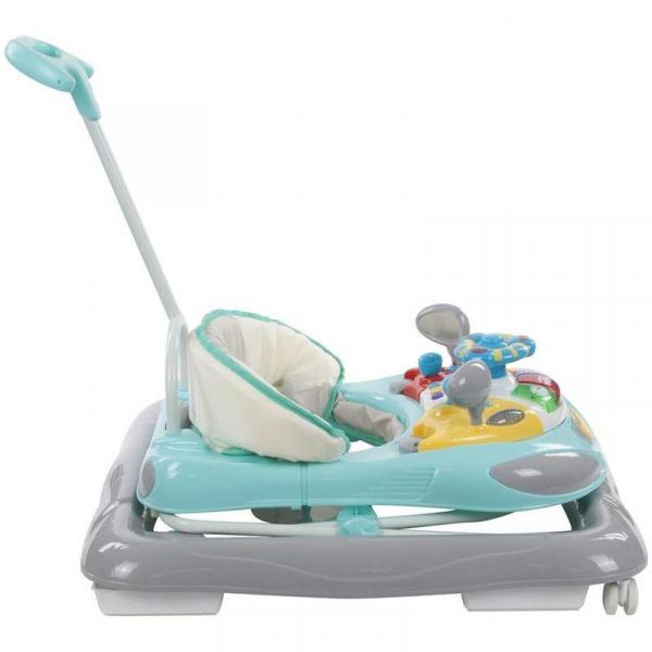 Premergator cu control parental Super Car - Sun Baby - Turcoaz cu Gri 1