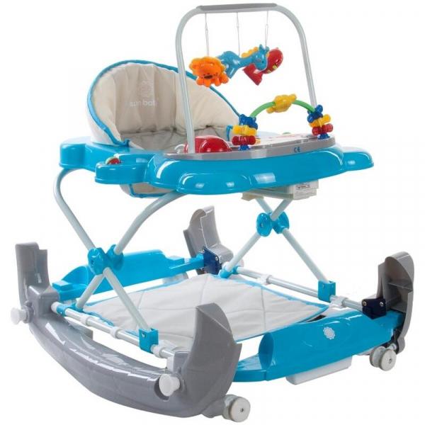 Premergator Pisicuta cu sistem de balansare - Sun Baby - Albastru cu Gri 1