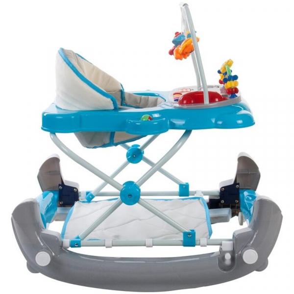 Premergator Pisicuta cu sistem de balansare - Sun Baby - Albastru cu Gri 2