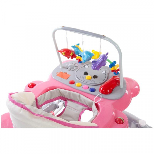 Premergator Pisicuta cu sistem de balansare - Sun Baby - Roz cu Gri [4]