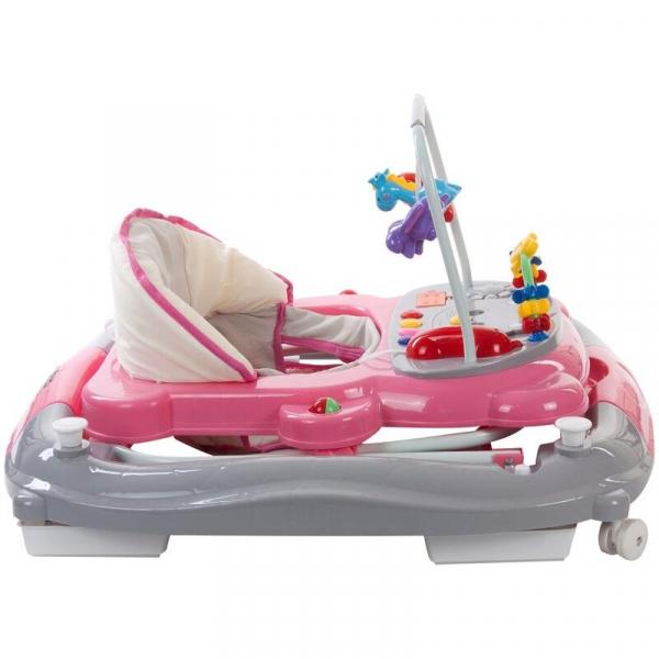 Premergator Pisicuta cu sistem de balansare - Sun Baby - Roz cu Gri 3