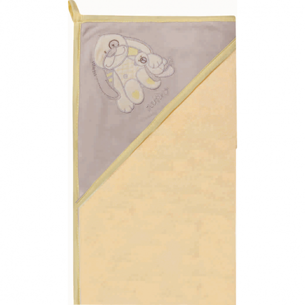 Prosop de baie cu gluga imprimeu velur 80 x 80 cm Womar Zaffiro AN-OW-01 0
