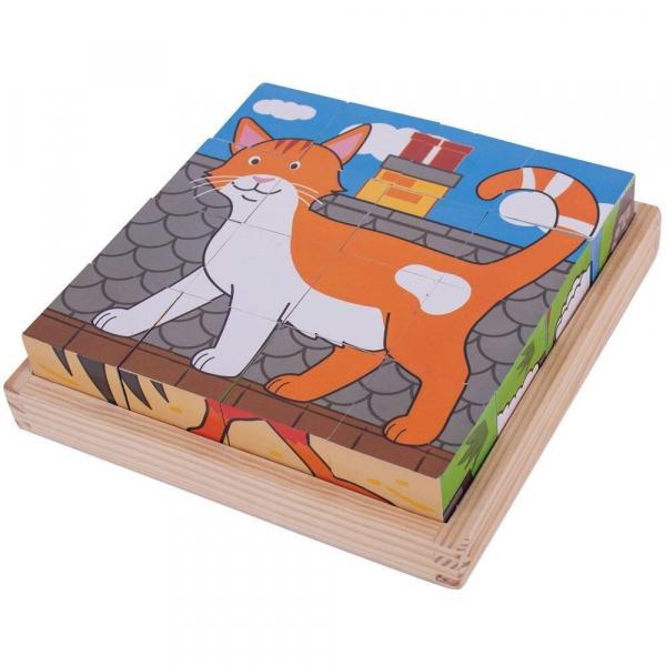 Puzzle cubic - Animalute de la ferma 3