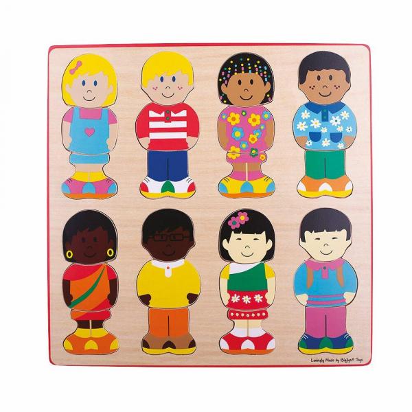 Puzzle din lemn - micutii prieteni 0