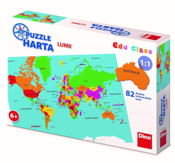 Puzzle geografic - Harta Lumii (82 piese) 2