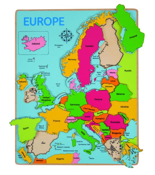 Puzzle - incastru Europa 0