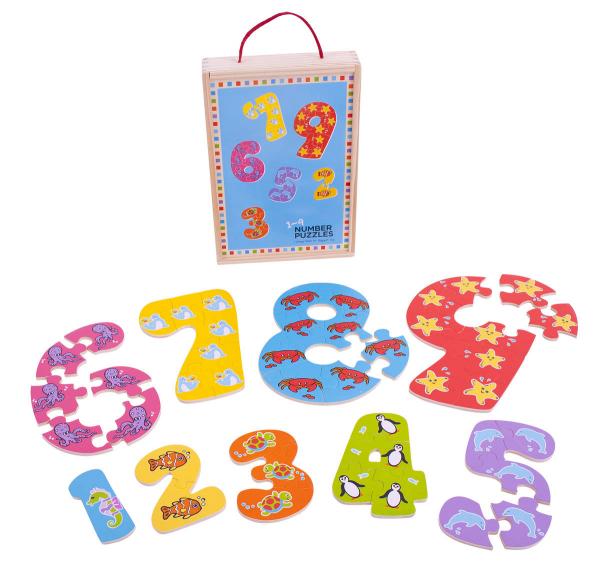 Puzzle-ul cifrelor 1 - 9 0