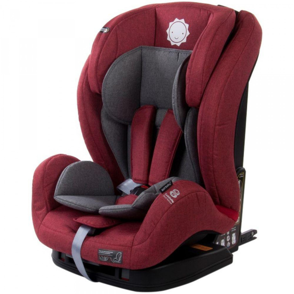 Scaun auto cu sistem Isofix si DTS 9-36 kg - Sun Baby - Rosu 0