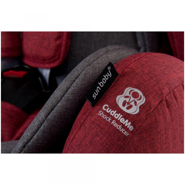 Scaun auto cu sistem Isofix si DTS 9-36 kg - Sun Baby - Rosu 3