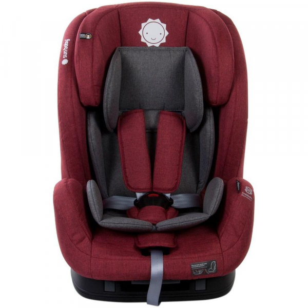 Scaun auto cu sistem Isofix si DTS 9-36 kg - Sun Baby - Rosu 1