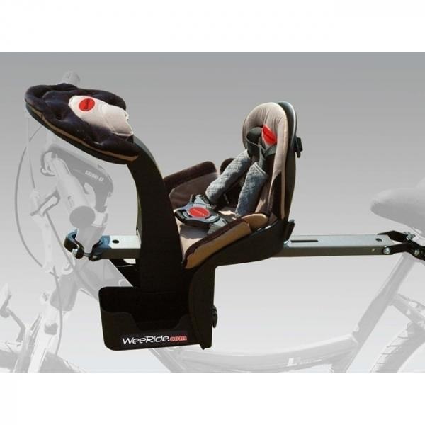 Scaun de bicicleta Deluxe si Casca protectie Flames Negru WeeRide WR03N 2