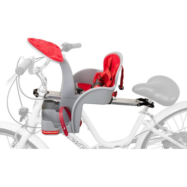 Scaun de bicicleta SafeFront Clasic 2018 si Casca protectie Flames Negru WeeRide WR09N 2