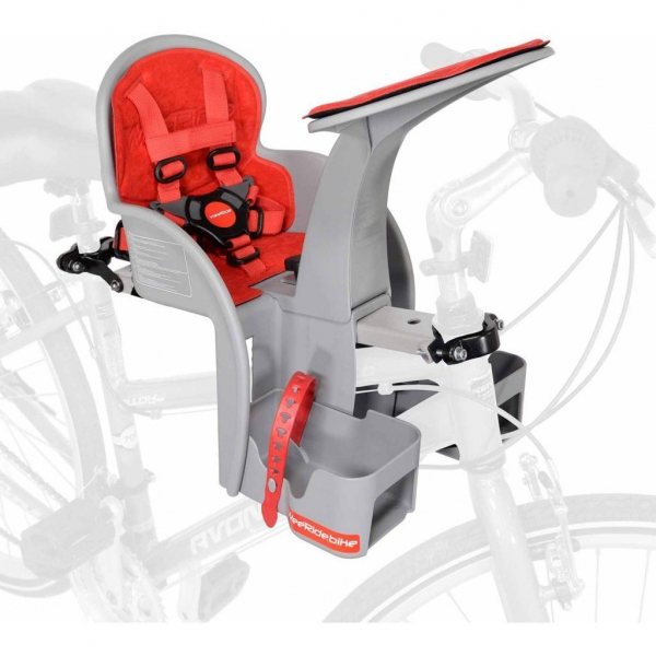 Scaun de bicicleta SafeFront Clasic 2018 si Casca protectie Flames Negru WeeRide WR09N 3