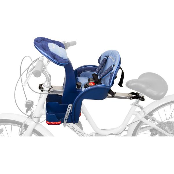 Scaun de bicicleta SafeFront Deluxe 2018 si Casca protectie Flames Roz WeeRide WR10R 1