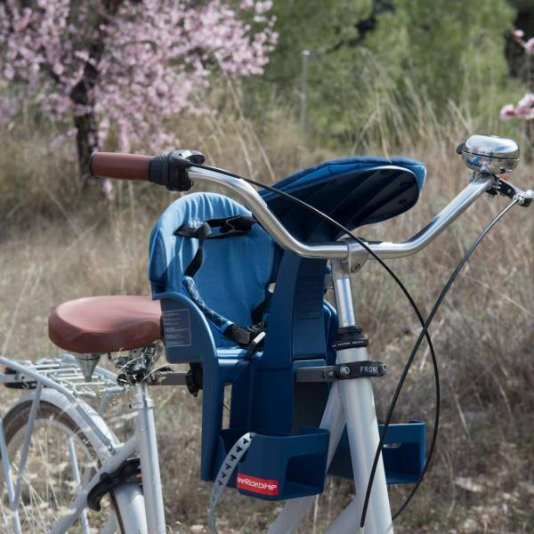Scaun de bicicleta SafeFront Deluxe 2018 si Casca protectie Flames Roz WeeRide WR10R 5