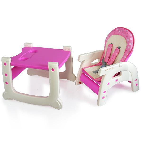 Scaun de masa multifunctional Baby Place, Mamakids, Roz cu Fluture 4