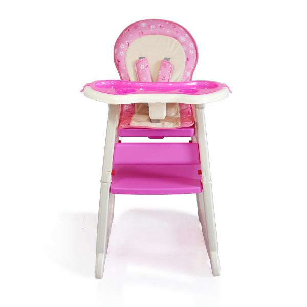 Scaun de masa multifunctional Baby Place, Mamakids, Roz cu Fluture 1