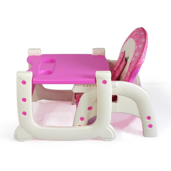 Scaun de masa multifunctional Baby Place, Mamakids, Roz cu Fluture [5]