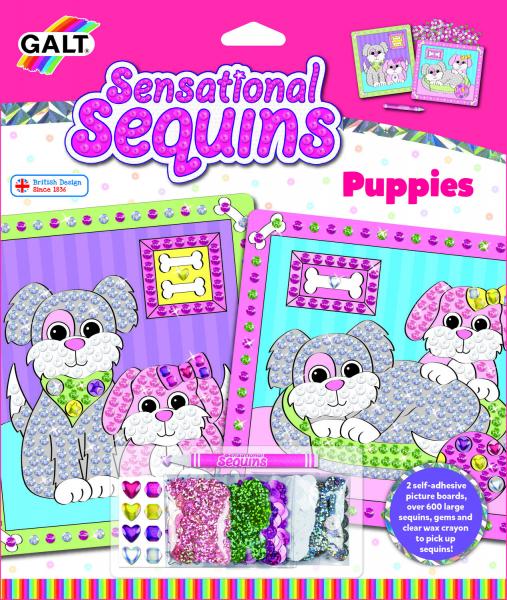 Sensational Sequins: Set 2 tablouri cu catelusi -New edition 0