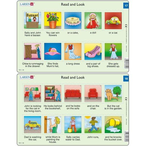 Set 10 Puzzle-uri Read and Look 11 -20 (EN), 10 piese Larsen LRRA6 3