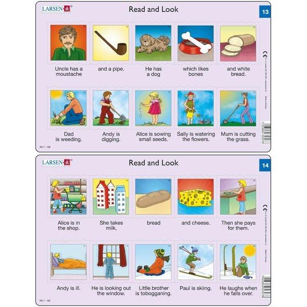 Set 10 Puzzle-uri Read and Look 11 -20 (EN), 10 piese Larsen LRRA6 1