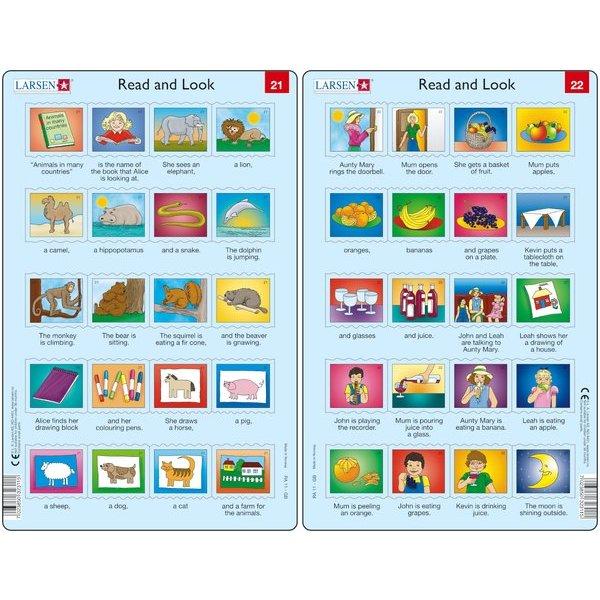 Set 10 Puzzle-uri Read and Look 21 -30 (EN), 10 piese Larsen LRRA11 0