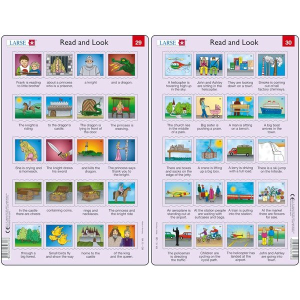 Set 10 Puzzle-uri Read and Look 21 -30 (EN), 10 piese Larsen LRRA11 4
