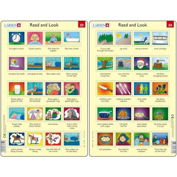 Set 10 Puzzle-uri Read and Look 21 -30 (EN), 10 piese Larsen LRRA11 1