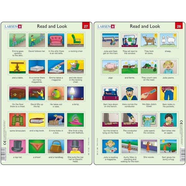 Set 10 Puzzle-uri Read and Look 21 -30 (EN), 10 piese Larsen LRRA11 3