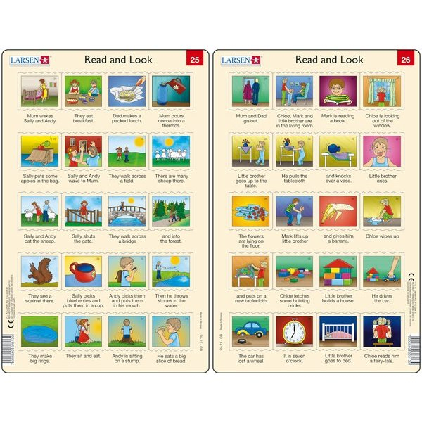 Set 10 Puzzle-uri Read and Look 21 -30 (EN), 10 piese Larsen LRRA11 2