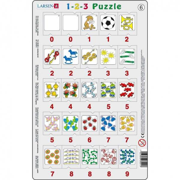 Set 12 Puzzle-uri 1-2-3, 25 Piese Larsen LRP46 6