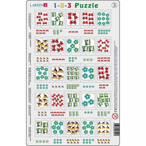 Set 12 Puzzle-uri 1-2-3, 25 Piese Larsen LRP46 3