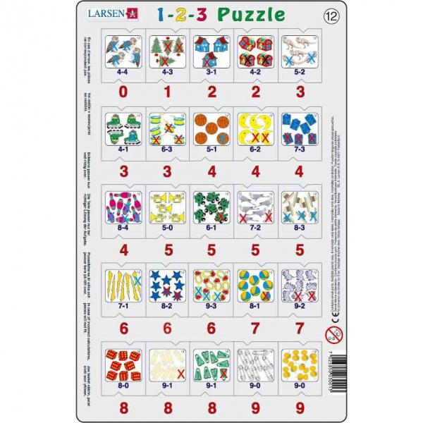 Set 12 Puzzle-uri 1-2-3, 25 Piese Larsen LRP46 12