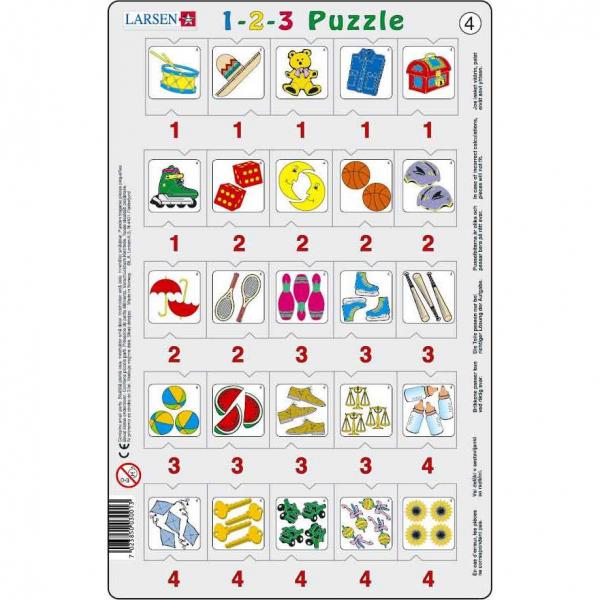 Set 12 Puzzle-uri 1-2-3, 25 Piese Larsen LRP46 4