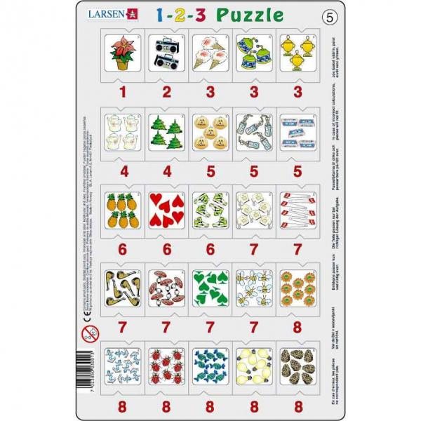 Set 12 Puzzle-uri 1-2-3, 25 Piese Larsen LRP46 5