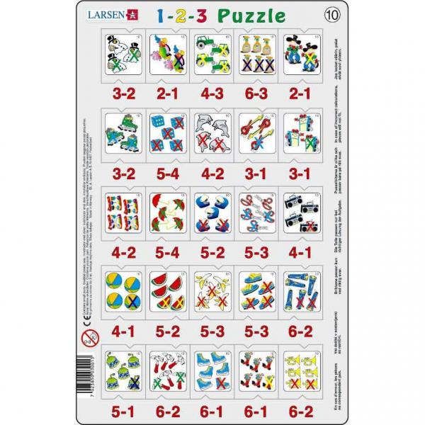 Set 12 Puzzle-uri 1-2-3, 25 Piese Larsen LRP46 10