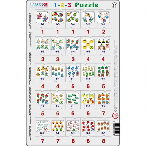 Set 12 Puzzle-uri 1-2-3, 25 Piese Larsen LRP46 11