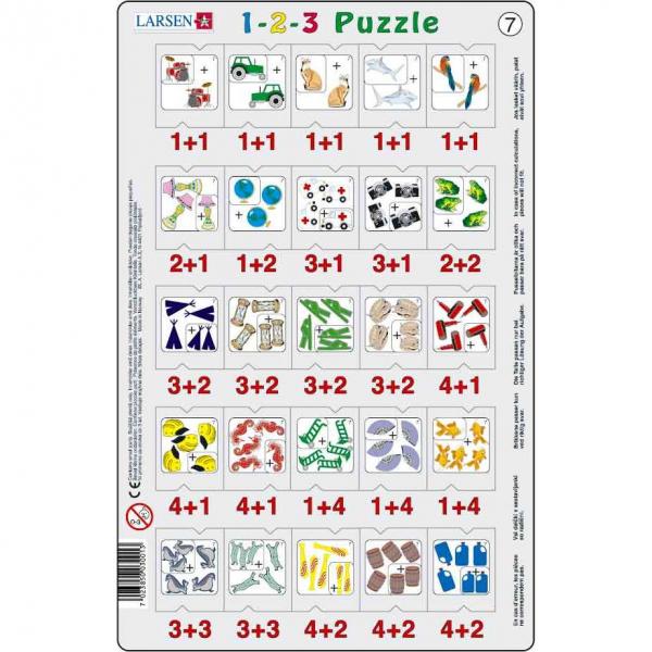 Set 12 Puzzle-uri 1-2-3, 25 Piese Larsen LRP46 7