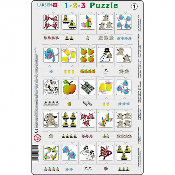 Set 12 Puzzle-uri 1-2-3, 25 Piese Larsen LRP46 1
