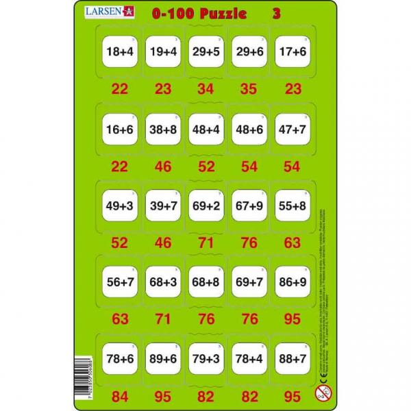 Set 16 Puzzle-uri 0 - 100, 25 Piese Larsen LRP48 3