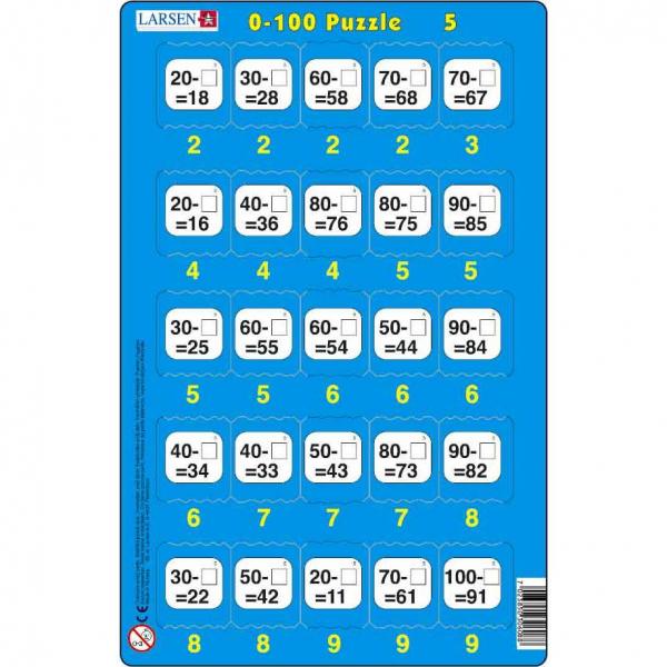 Set 16 Puzzle-uri 0 - 100, 25 Piese Larsen LRP48 5
