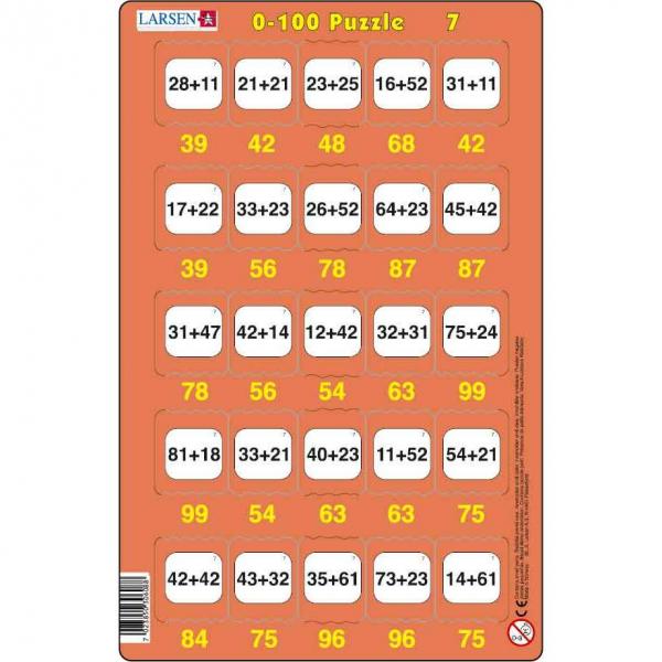 Set 16 Puzzle-uri 0 - 100, 25 Piese Larsen LRP48 7