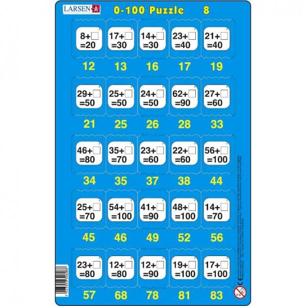 Set 16 Puzzle-uri 0 - 100, 25 Piese Larsen LRP48 8
