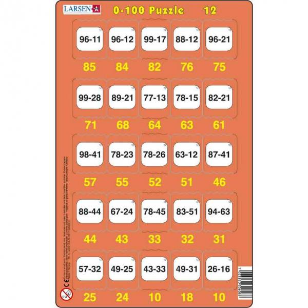 Set 16 Puzzle-uri 0 - 100, 25 Piese Larsen LRP48 12