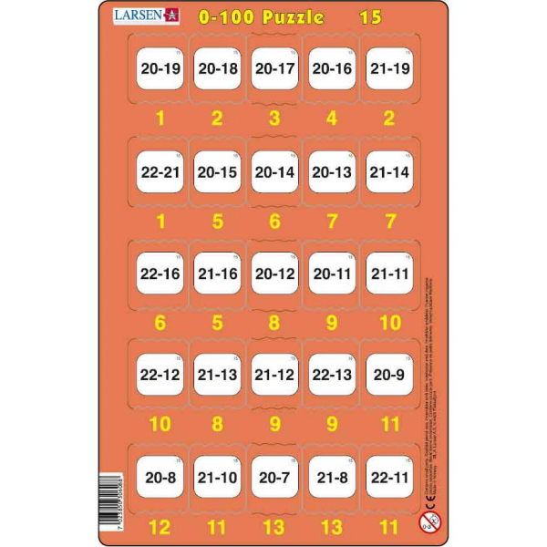 Set 16 Puzzle-uri 0 - 100, 25 Piese Larsen LRP48 15