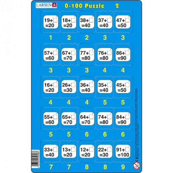 Set 16 Puzzle-uri 0 - 100, 25 Piese Larsen LRP48 2