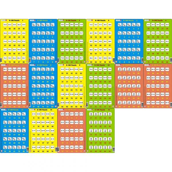 Set 16 Puzzle-uri 0 - 100, 25 Piese Larsen LRP48 0
