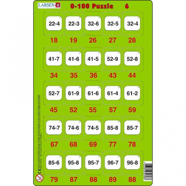 Set 16 Puzzle-uri 0 - 100, 25 Piese Larsen LRP48 6