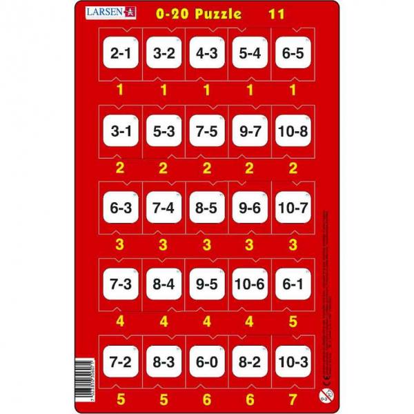 Set 16 Puzzle-uri 0 - 20, 25 Piese Larsen LRP47 11