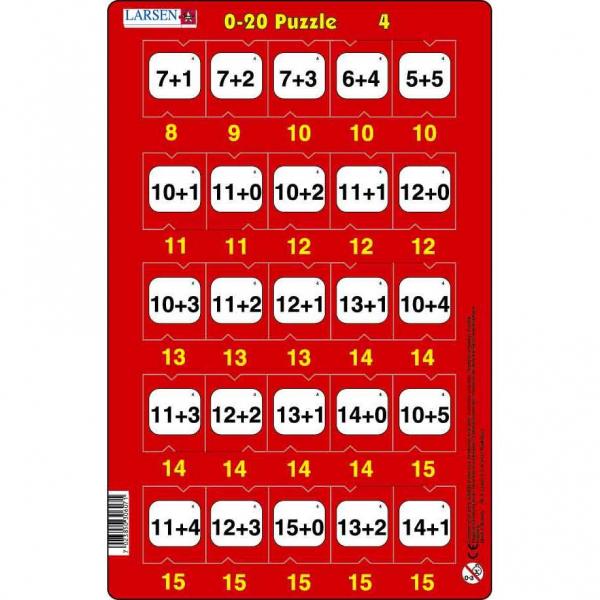 Set 16 Puzzle-uri 0 - 20, 25 Piese Larsen LRP47 4